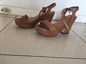 Real Leather Tan heels used New Farm Brisbane North East Preview