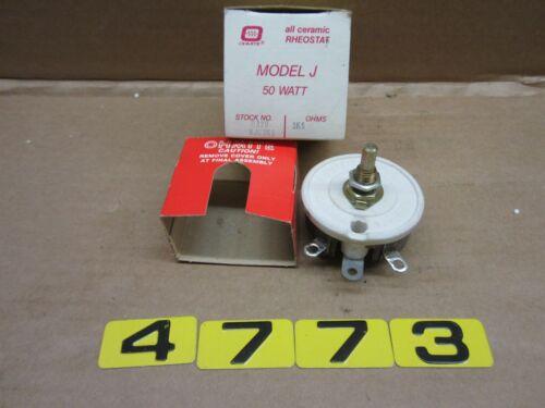OHMITE MODEL J REOSTAT 50 WATT 0329 RJS3K5