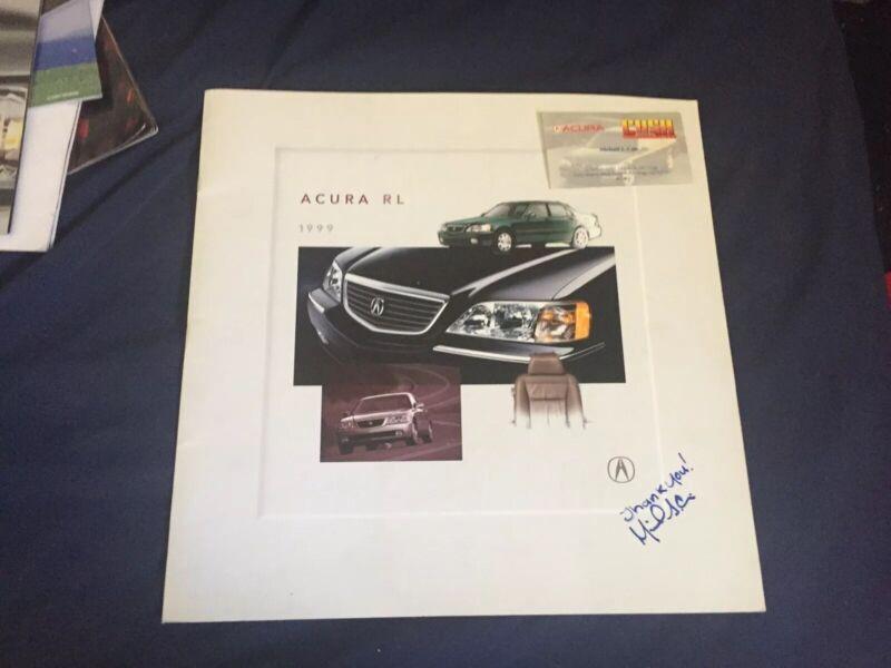 1999 Acura RL Sedan USA Market Color Brochure Catalog Prospekt