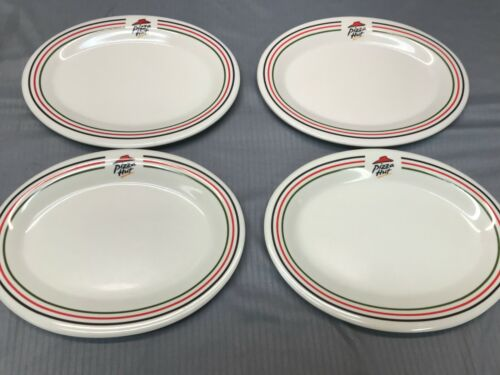 Set Of 4 Pizza Hut Restaurant Oval Plates PizzaHut Collectible 4 Oval Plates