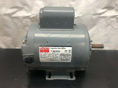 Dayton 6k376j Capacitor Start Motor 34 Hp 1725 Rpm Frame 56 Single Phase