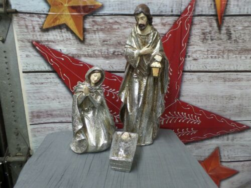 Valerie Parr Hill 3 Piece Glistening Holy Family Set