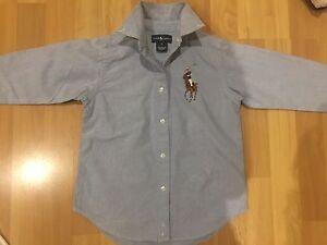 Boys Authentic Ralph Lauren Blue Shirt -size 5 Abbotsbury Fairfield Area Preview