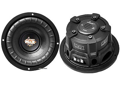"PAIR NEW Lanzar MAXP64 6.5"" 1200W Small Enclosure 4 Ohm Subwoofers (600W each)"