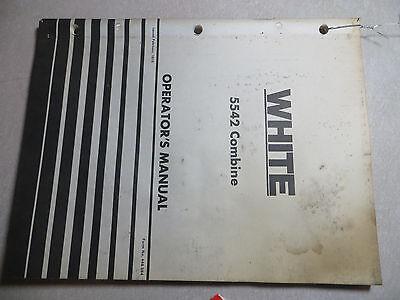 Oliverwhite 5542 Combine Operators Manual