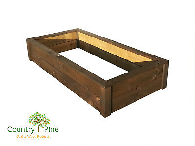 Rectangle Raised Garden Bed - Treated Timber 8 Natural Colours   Veg Herbs