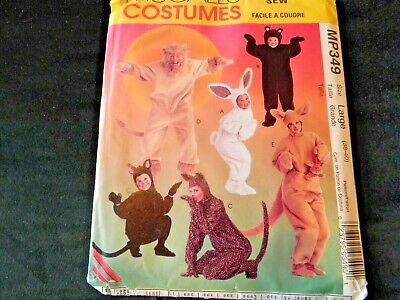 McCalls Easy to Sew Costumes MP349 Large Lion Bear Kangaroo