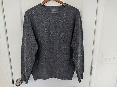 Howlin by Morrison Birth of the Cool Wool Sweater, Charcoal, L, Made in Scotland
