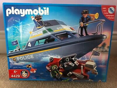 NEW Playmobil 4429 - Police Boat with underwater motor NEW BOXED