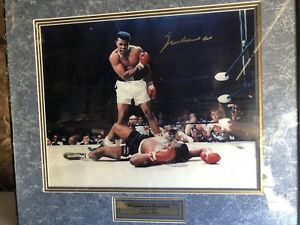 Limited edition Muhammad Ali autographed picture with frame
