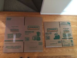 UHAUL moving boxes.