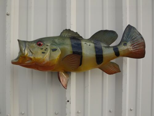 """23"""" Peacock Bass Two Sided Fish Mount Replica - 10 Business Day Production Time"""
