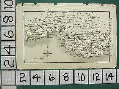 c1833 GEORGIAN MAP ~ GLAMORGANSHIRE ~
