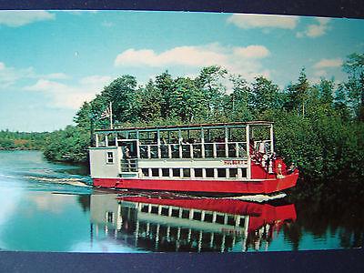 Tahquamenon River MI Excursion Boat Hulbert Postcard 1950s