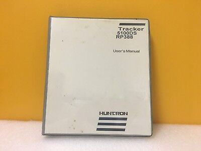 Huntron 21-1119 Tracker 5100ds Rp388 Users Manual