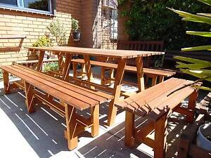 huge outdoor setting made from merbau timber 2100 x 800 NEW Edithvale Kingston Area Preview