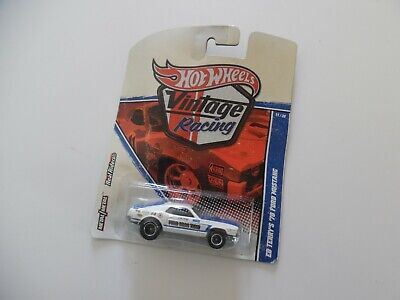 Hot Wheels VINTAGE RACING Ed Terry's '70 Ford Mustang 2010 bent card