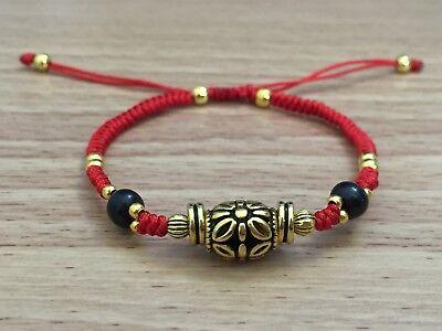 Flower String Bracelet Jewelry - Women Red String Knot Adjustable Shamballa Bracelet - Beautiful Flower Design