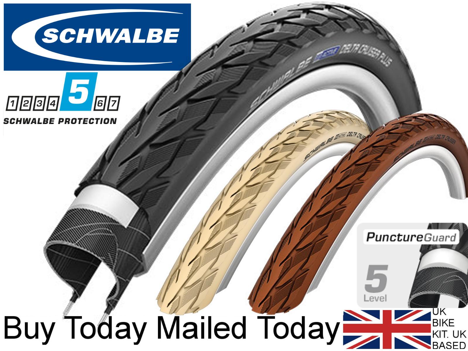 PV TUBES 2 x 700 X 40c  SCHWALBE ROAD CRUISER CREAM  Tyres
