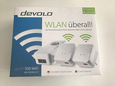 Devolo dLAN 550 Network Kit Powerline Triple Pack 300mbps Wifi (European Plugs)