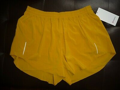 "Lululemon ALWAYS AIRY RUN SHORT 3.5"" HONEYCOMB SZ 10 NWT"