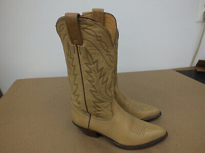 Nocona Blonde Soft Leather Cowboy Western Boots 7.5 B  USA