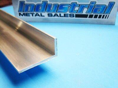2pcs 1 X 2 X 6 Long X 18 Thick 6063 T52 Aluminum Angle