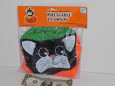 Inflatable Cat Pumpkin Halloween Party Decoration 1990's (Inflatable Cat Halloween Decorations)