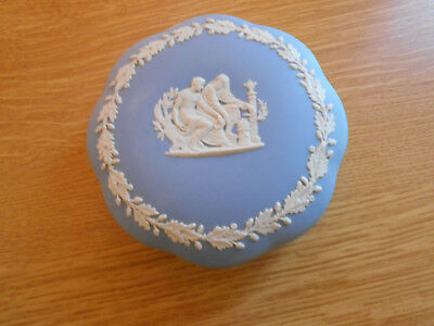 Wedgwood Jasperware Lidded Trinket / Pin Pot