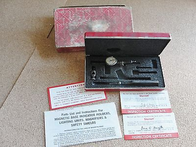 Vintage Starrett Last Word 711-fs Indicator Case Box Range .030 Reading .001