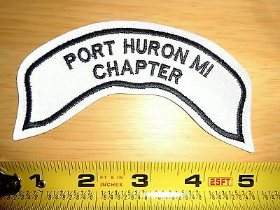 Hog Port Huron Mi Reflective Small Rocker Patch Harley Davidson Owners Group Loh
