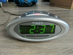Timex T233G Nature Sounds Clock AM FM Radio Alarm Tested Works Battery Backup