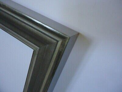 18 X 18 Leinwand (Bilderrahmen 18x20cm silber Holz Rahmen für Keilrahmen Leinwand geeignet)