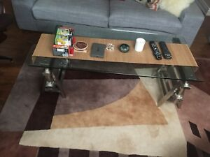 Coffee table and side table glass $200