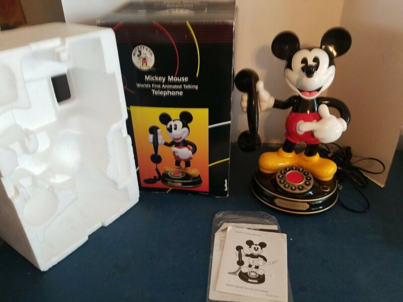 (VTG) 1997 Mickey Mouse Animated character Talking Telephone Disney new