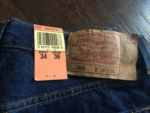Vintage Levis 501 XX  W34L36 NWT San Fran.  PRESHRUNK  . made in USA