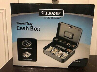 Steelmaster Tiered Tray Cash Box Money Drawer Key Locking Safe Lock