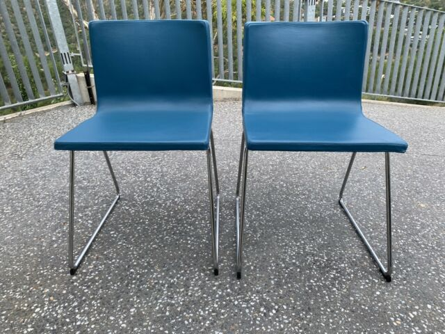 2 teal leather dining chairs | Dining Chairs | Gumtree ...