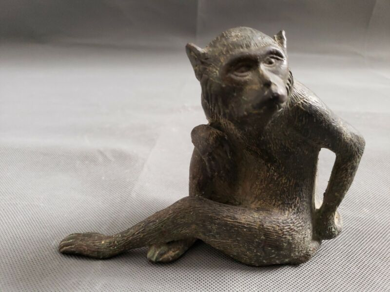 Japanese Bronze Okimono  Monkey
