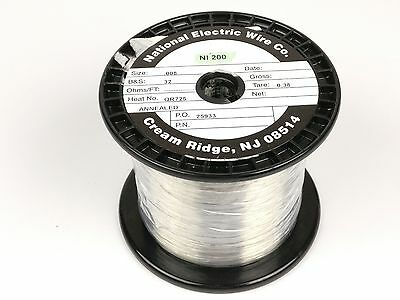 Pure Nickel Wire 32 Gauge 3.24 Lb 16799 Ft Non Resistance Awg Ni200 Nickel 200