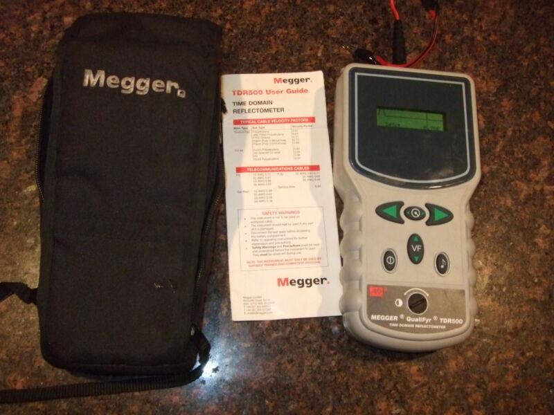MEGGER TDR500 TDR TELECOM COPPER LINE FAULT FINDER LOCATOR TESTER