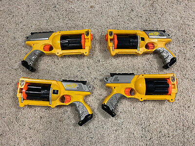 Lot of 4 Nerf REV-6 N-STRIKE Maverick Dart Guns
