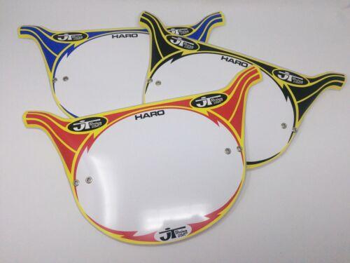 JT Racing Haro Style Pro Plate. Lightning Bolt BMX Number Plates