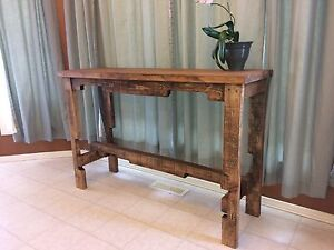 Entryway table (extreme Rustic)