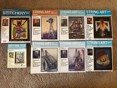 String Art Kit Design R Crafts USA Fuzzys Decoupage Stitchery Dimensional Paper