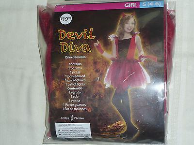 Girls Size 4-6  Devil Diva  Halloween Costume-Girls - Devil Diva Costume