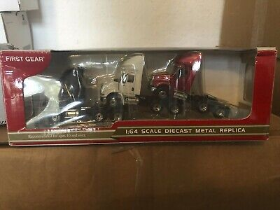 FIRST GEAR  IHC T/A SET OF 3 TRACTORS RED WHITE AND BLACK