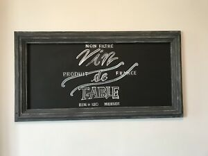 Hand Stenciled Shabby Chic Chalkboard