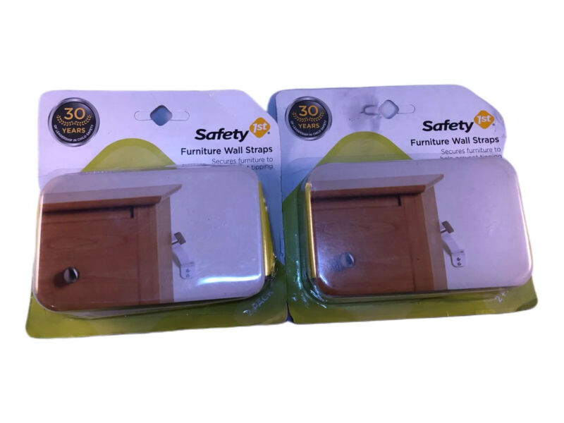 Safety First Furniture Wall Straps Baby Proofing DSS Approved Lot Of 2 Brand New