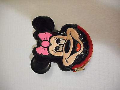 Vintage Walt Disney World Minnie Mouse Sqeaking Coin Purse w/ Zipper